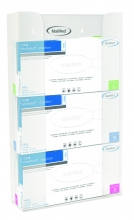 MaiMed-kesztyű doboz tartó falra szerelhető 3 doboznak acril kivitelben